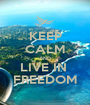 KEEP CALM AND LIVE IN  FREEDOM - Personalised Poster A1 size