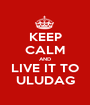 KEEP CALM AND LIVE IT TO ULUDAG - Personalised Poster A1 size