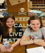 KEEP CALM AND LIVE LIKE MATT CLARK - Personalised Poster A1 size