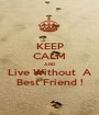 KEEP CALM AND Live Without  A Best Friend ! - Personalised Poster A1 size