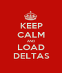 KEEP CALM AND LOAD DELTAS - Personalised Poster A1 size