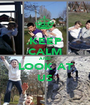 KEEP CALM AND LOOK AT US - Personalised Poster A1 size