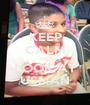 KEEP CALM AND LOOK AT USMAN - Personalised Poster A1 size