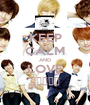 KEEP CALM AND LOVE 보이프렌드 - Personalised Poster A1 size
