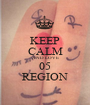 KEEP CALM AND LOVE 05 REGION - Personalised Poster A1 size