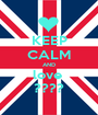 KEEP CALM AND love  ???? - Personalised Poster A1 size