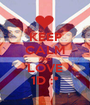 KEEP CALM AND LOVE 1D :* - Personalised Poster A1 size