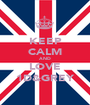 KEEP CALM AND LOVE 1D&GREY - Personalised Poster A1 size