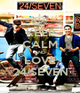 KEEP CALM AND LOVE 24/SEVEN - Personalised Poster A1 size