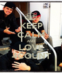 KEEP CALM AND LOVE 4COUNT - Personalised Poster A1 size