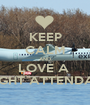 KEEP CALM AND LOVE A  FLIGHT ATTENDANT - Personalised Poster A1 size