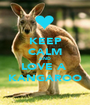 KEEP CALM AND LOVE A  KANGAROO - Personalised Poster A1 size