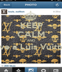 KEEP CALM AND Love a Luis Vuitton   - Personalised Poster A1 size