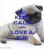 KEEP CALM AND LOVE A PUG - Personalised Poster A1 size
