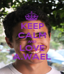KEEP CALM AND LOVE A.WAEL - Personalised Poster A1 size