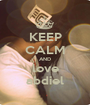 KEEP CALM AND love abdiel - Personalised Poster A1 size