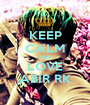 KEEP CALM AND LOVE ABIR RK - Personalised Poster A1 size