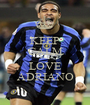 KEEP CALM AND LOVE ADRIANO - Personalised Poster A1 size