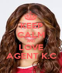 KEEP CALM AND LOVE AGENT K.C - Personalised Poster A1 size
