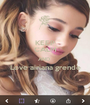 KEEP CALM AND  Love airiana grende  - Personalised Poster A1 size
