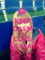 KEEP CALM AND LOVE AJŠA - Personalised Poster A1 size