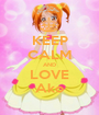 KEEP CALM AND LOVE Ako - Personalised Poster A1 size