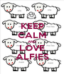 KEEP CALM AND LOVE ALFIES - Personalised Poster A1 size