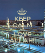KEEP CALM AND LOVE ALLAH!! - Personalised Poster A1 size