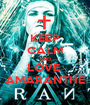 KEEP CALM AND LOVE  AMARANTHE - Personalised Poster A1 size
