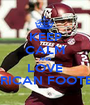 KEEP CALM AND LOVE AMERICAN FOOTBALL - Personalised Poster A1 size