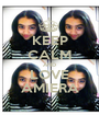 KEEP CALM AND LOVE AMIERA - Personalised Poster A1 size