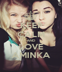 KEEP CALM AND LOVE AMINKA - Personalised Poster A1 size