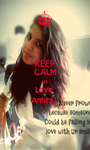 KEEP CALM AND Love  Amira ♥ - Personalised Poster A1 size