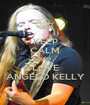 KEEP CALM AND LOVE ANGELO KELLY - Personalised Poster A1 size