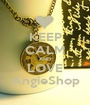 KEEP CALM AND LOVE AngieShop - Personalised Poster A1 size