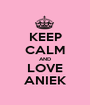 KEEP CALM AND LOVE ANIEK - Personalised Poster A1 size