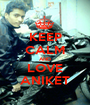 KEEP CALM AND LOVE ANIKET - Personalised Poster A1 size