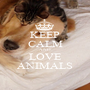 KEEP CALM AND LOVE ANIMALS - Personalised Poster A1 size
