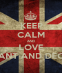 KEEP CALM AND LOVE ANT AND DEC - Personalised Poster A1 size