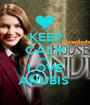 KEEP CALM AND LOVE ANUBIS  - Personalised Poster A1 size
