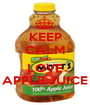 KEEP CALM AND LOVE APPLE JUICE - Personalised Poster A1 size