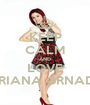 KEEP CALM AND LOVE ARIANA GRNADE - Personalised Poster A1 size