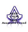 KEEP CALM AND Love  Assassins Creed - Personalised Poster A1 size