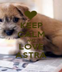 KEEP CALM AND LOVE ASTRA - Personalised Poster A1 size