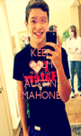 KEEP CALM AND LOVE AUSTIN MAHONE - Personalised Poster A1 size