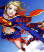 KEEP CALM AND LOVE AVA&ZELJKO - Personalised Poster A1 size