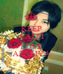 KEEP CALM AND LOVE AZALIYA - Personalised Poster A1 size
