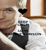 KEEP CALM AND LOVE BARNEY STINSON - Personalised Poster A1 size