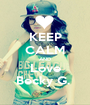 KEEP CALM AND Love Becky G.  - Personalised Poster A1 size