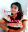 keep calm and  love  being single !! - Personalised Poster A1 size